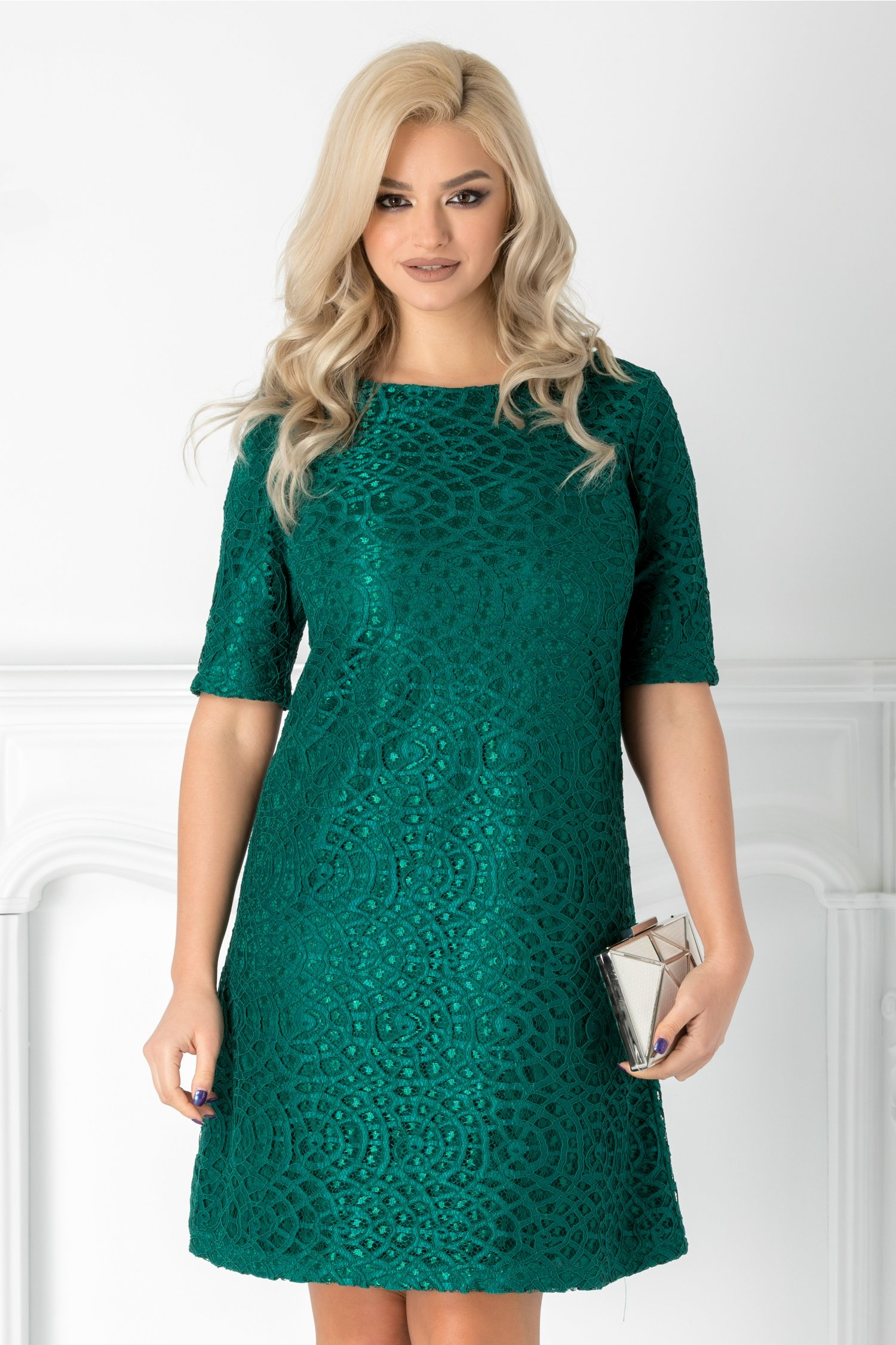 Rochie Lulu verde din dantela
