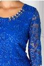 Rochie Malvina albastra de ocazie cu dantela deosebita