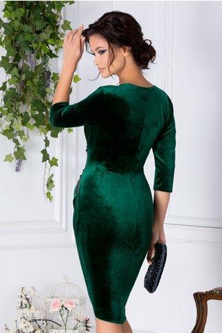 Rochie Mara verde cu aplicatie din paiete