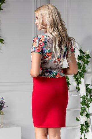 Rochie Margarette office rosie cu model floral