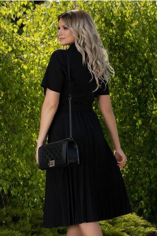 Rochie Maria neagra cu fusta plisata