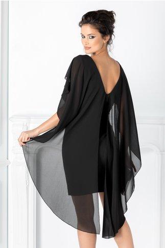 Rochie Maria neagra cu voal tip capa