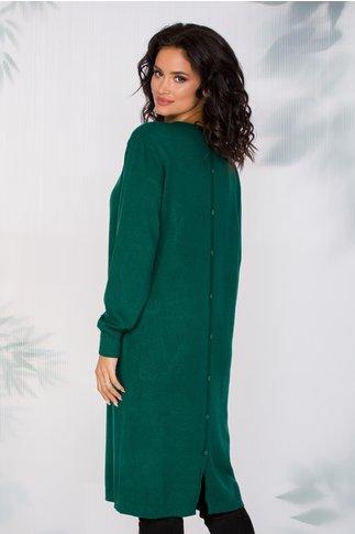Rochie Marie verde casual cu buzunare