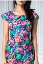 Rochie Marlen de zi cu imprimeu colorat