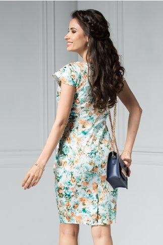 Rochie Marlen de zi cu imprimeu oranj vernil