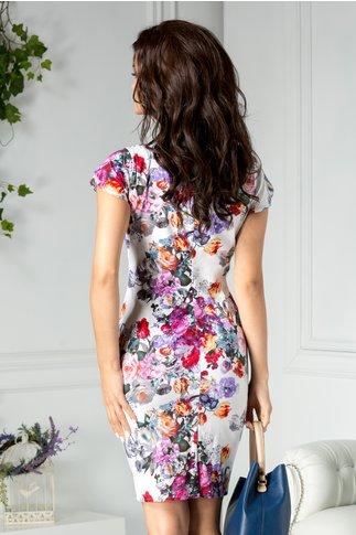 Rochie Marlen de zi cu imprimeu violet