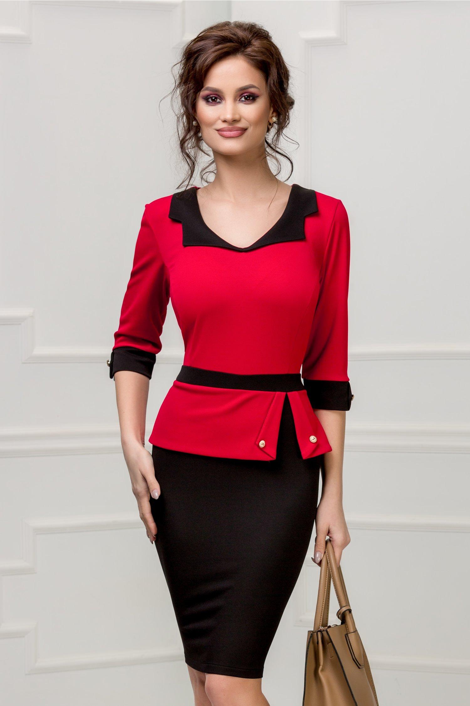 Rochie Marlo negru cu rosu