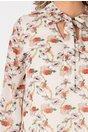 Rochie Marya ivoire cu imprimeu floral