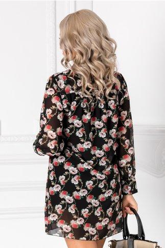 Rochie Marya neagra cu imprimeu floral