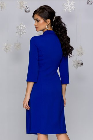 Rochie Masha albastru regal stil sacou