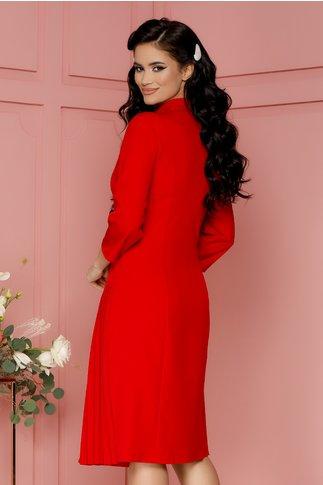 Rochie Masha rosu stil sacou