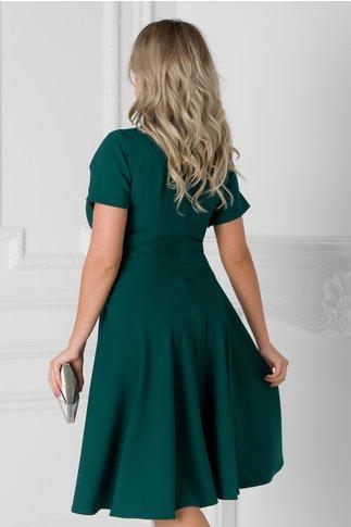 Rochie Matilda verde clos cu decolteu petrecut