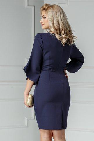 Rochie Maura bleumarin cu aplicatii elegante