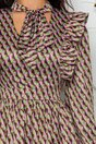 Rochie MBG cu imprimeuri in nuante pastel