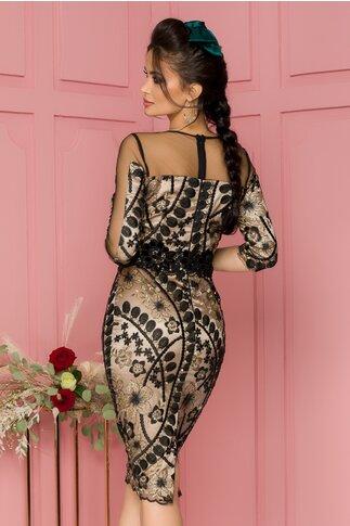 Rochie MBG din dantela neagra eleganta