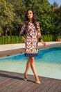 Rochie MBG orange cu imprimeuri geometrice