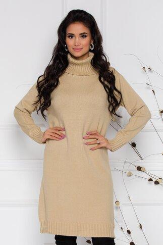 Rochie Mira crem lejera din tricot