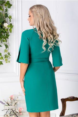 Rochie Miriam verde stil sacou