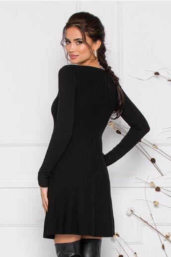 Rochie Miruna neagra din tricot