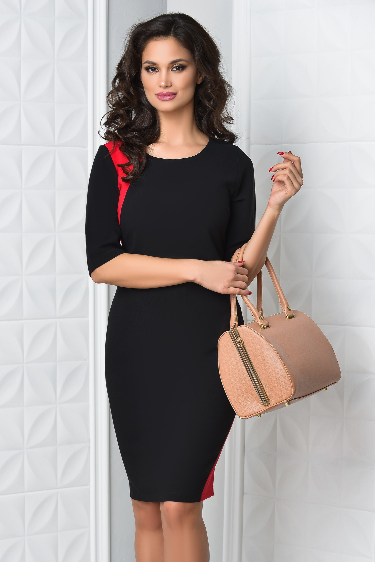Rochie Miruna neagra office eleganta