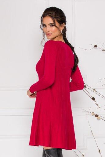 Rochie Miruna rosie din tricot