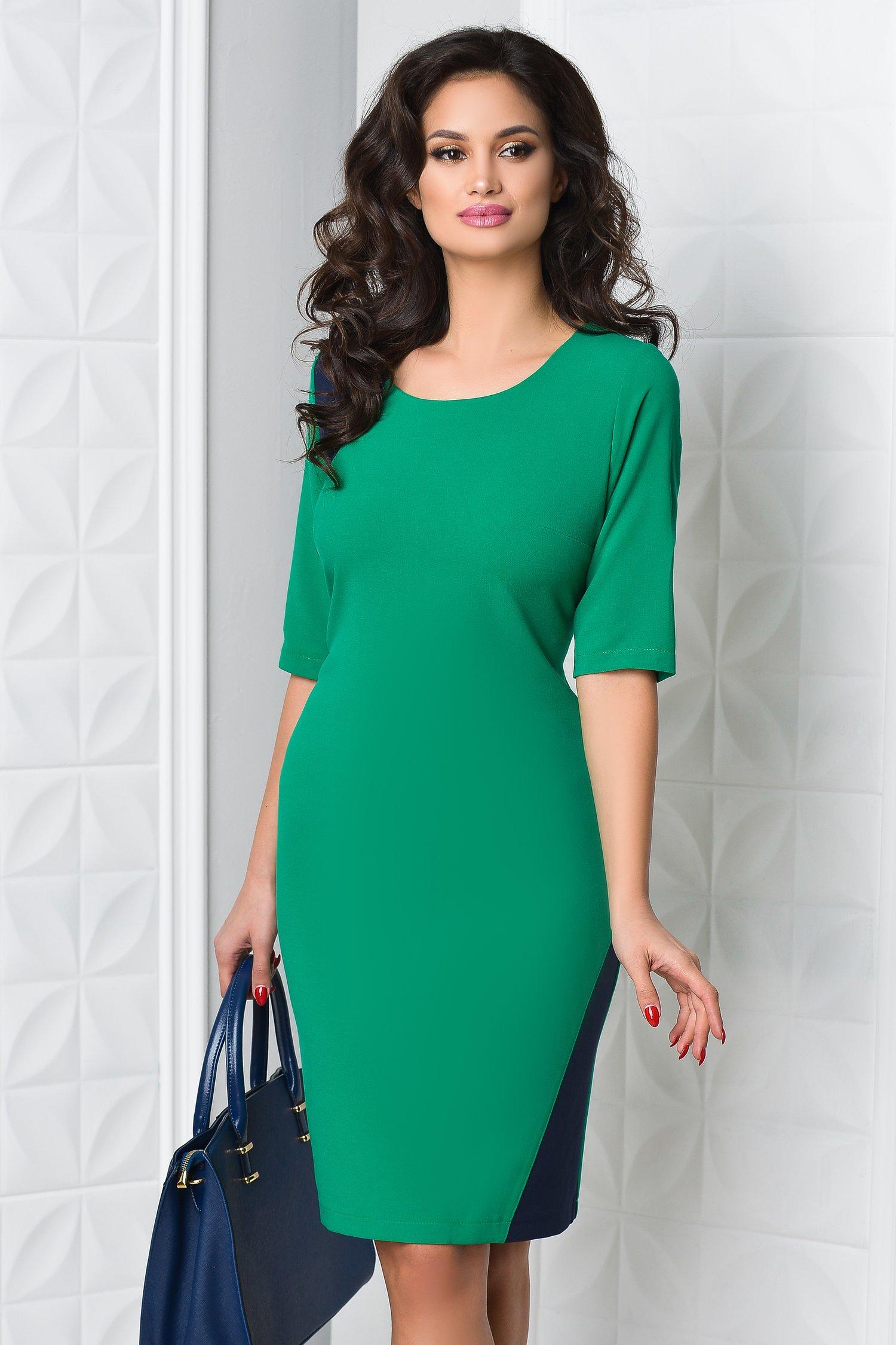 Rochie Miruna verde office eleganta