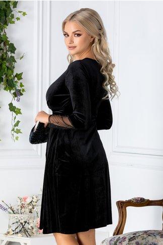 Rochie Mirunda neagra de ocazie din catifea