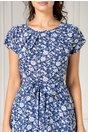 Rochie Missa bleumarin cu floricele