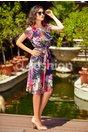 Rochie Missa din Voal cu Imprimeu Floral Mov