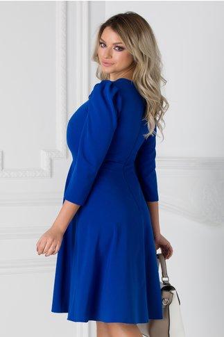Rochie Moze albastra cu umerii bufanti