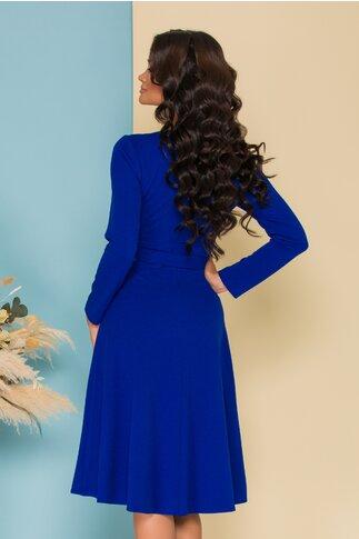 Rochie Moze albastra in croi clos
