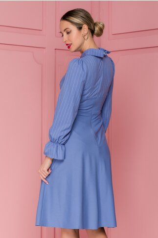 Rochie Moze bleu cu dungi