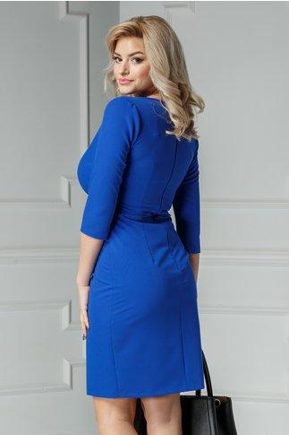 Rochie Moze Carol conica albastra petrecuta