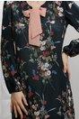 Rochie Moze Cesonia bleumarin cu imprimeuri florale