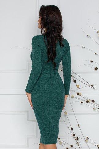 Rochie Moze conica din jerse verde
