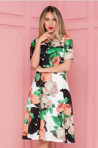 Rochie Moze cu imprimeuri florale colorate