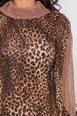 Rochie Moze cu print leopard maro