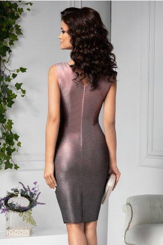 Rochie Moze de ocazie petrecuta roz cu sclipici in degrade