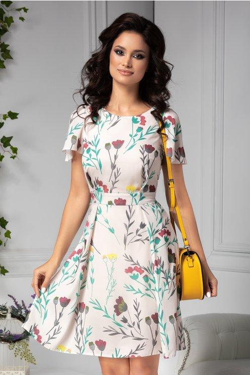 Rochie Moze de vara ivor cu print floral