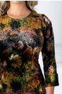 Rochie Moze din catifea cu print aramiu
