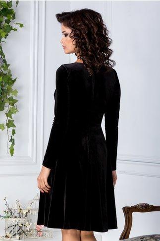 Rochie Moze din catifea neagra cu broderie la bust