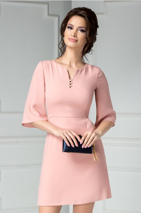 Rochie Moze Elam scurta roz tip A