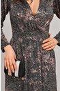 Rochie Moze Ema de ocazie argintiu cu piersica
