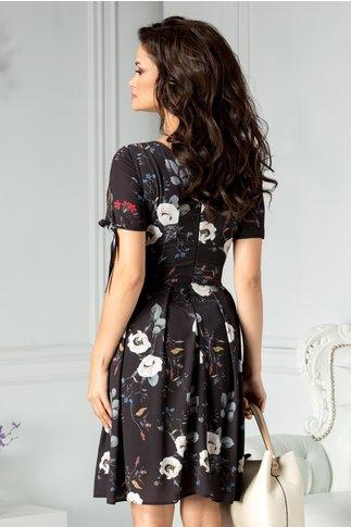 Rochie Moze Evelinne neagra cu print floral