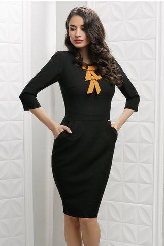 Rochie Moze Evita neagra conica office eleganta