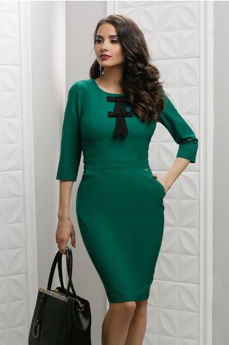 Rochie Moze Evita verde conica office eleganta