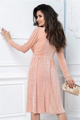 Rochie Moze Iuna roz praf petrecuta de ocazie