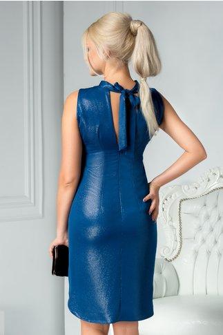 Rochie Moze Mayra larga albastru safir