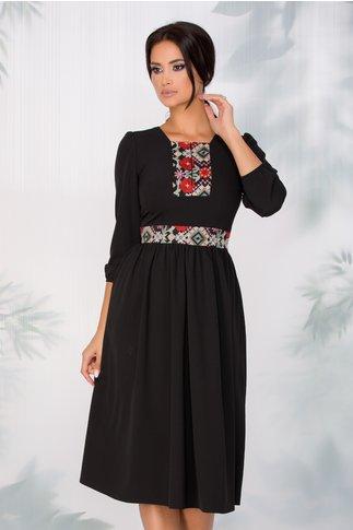 Rochie Moze neagra cu motive traditionale