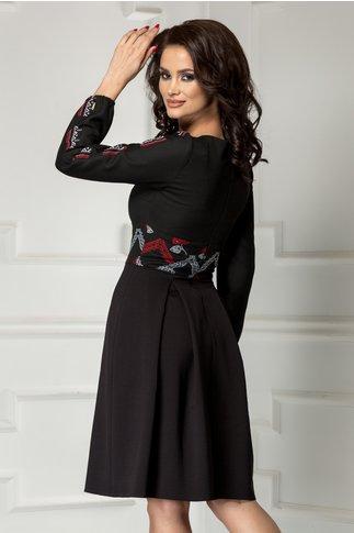 Rochie Moze neagra in cute brodata traditional